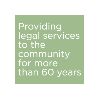 Providing legal services to the community for more than 60 years